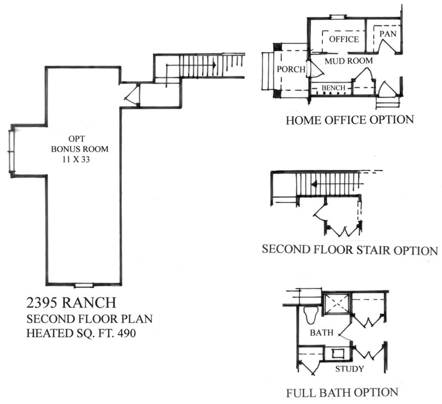 The Homestead Collection at Anderson Farms - The Trailview Floor Plan - Second Level