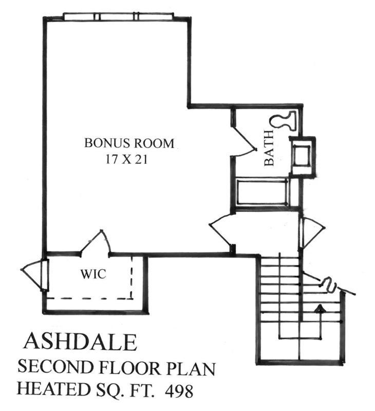 The Homestead Collection at Anderson Farms - The Ashdale Floor Plan - Second Level