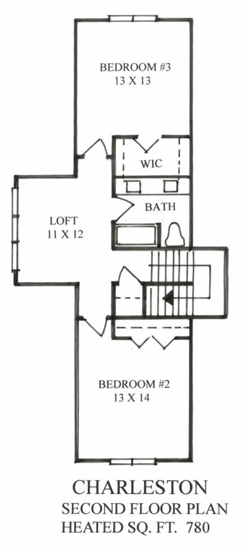 The Homestead Collection at Anderson Farms - The Charleston Floor Plan - Second Level